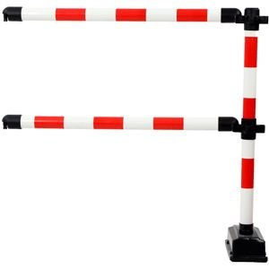 Erweiterungsset: 1 Pfosten mit 2 Querstangen f. Express-Schranke rot/weiß
