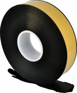 Bodenmarkierungsband WT-500 mit abgeschrägten Kanten, PVC, Schwarz, 5x2500 cm
