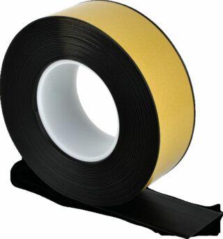 Bodenmarkierungsband WT-500 mit abgeschrägten Kanten, PVC, Schwarz, 5x1000 cm