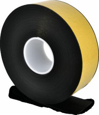 Bodenmarkierungsband WT-500 mit abgeschrägten Kanten, PVC, Schwarz, 7,5x2500 cm