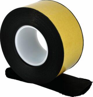 Bodenmarkierungsband WT-500 mit abgeschrägten Kanten, PVC, Schwarz, 7,5x1000 cm