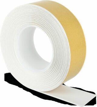 Bodenmarkierungsband WT-500 mit abgeschrägten Kanten, PVC, Weiß, 5x1000 cm