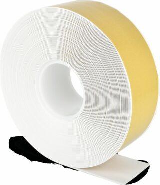 Bodenmarkierungsband WT-500 mit abgeschrägten Kanten, PVC, Weiß, 7,5x2500 cm