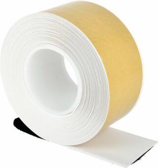 Bodenmarkierungsband WT-500 mit abgeschrägten Kanten, PVC, Weiß, 7,5x1000 cm
