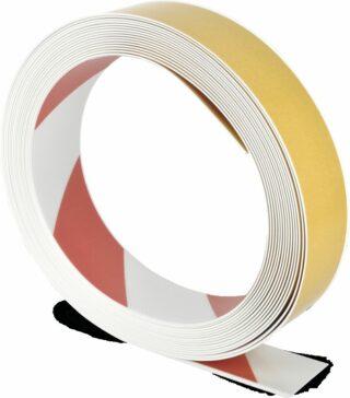 Bodenmarkierungsband WT-500 mit abgeschrägten Kanten, PVC, Rot/Weiß, 5x1000 cm