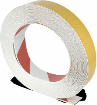 Bodenmarkierungsband WT-500 mit abgeschrägten Kanten, PVC, Rot/Weiß, 5x2500 cm