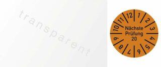 Kabelprüfplakette Nächste Prüfung 2020, Folie, orange, 2,5x6 cm