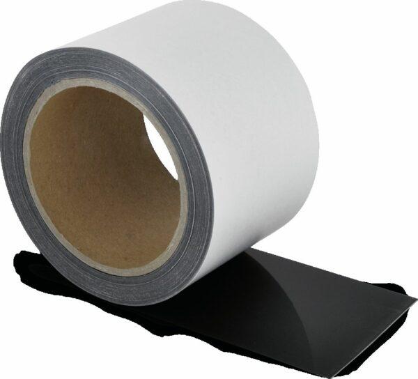 Schmutzresistentes Bodenmarkierungsband WT-5229, Polyester, Schwarz, 7,5x1500 cm
