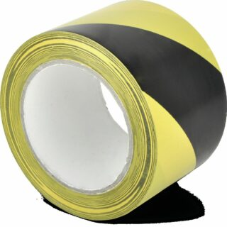 Standard-Bodenmarkierungsband WT-5160, PVC, Gelb/Schwarz, 7,5x3300 cm
