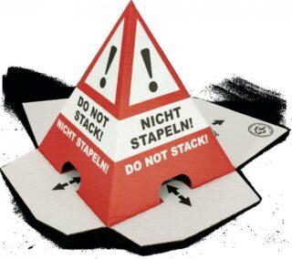 Stapelschutz Nicht stapeln! Do not stack!, Wellpappe, 22,2 cm Höhe,VE = 50 Stück