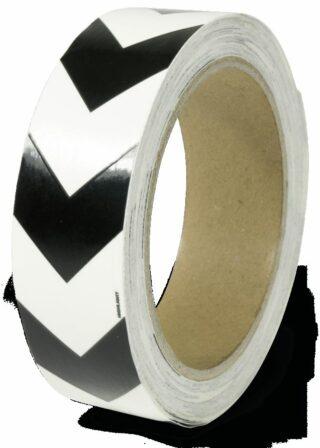 Markierungsband m. schwarzen Richtungspfeilen,nachleucht.,160-mcd,Folie,3x1600cm