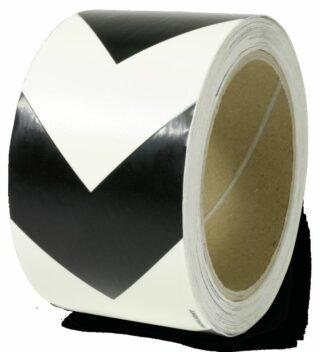 Markierungsband m. schwarzen Richtungspfeilen,nachleucht.,160-mcd,Folie,6x1600cm