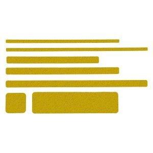 m2-Antirutschbelag Public 46 Einzelstreifen, gelb, 2,5x80 cm