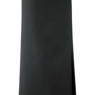 Schwarze Bistro Schürze 100x100 mit Gehschlitz