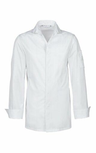Herren-Kochhemd mit V-Ausschnitt / Slim Fit