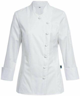 Damen-Kochjacke mit Stoffknöpfen / Regular Fit - 5416